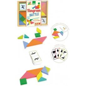Vilac Hra souboj tangramů - poškozená dřevěná krabička