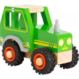 Small Foot Dřevěný traktor zelený - poškozený obal