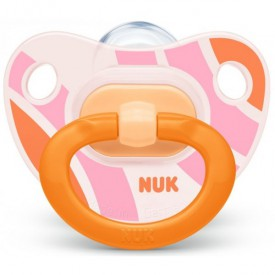 NUK Dudlík silikonový HAPPY DAYS V3 (18m+) oranžová