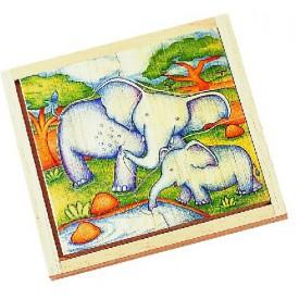 Voila Dřevěné puzzle Slon