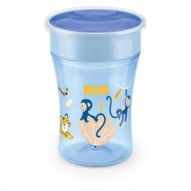 NUK hrnek Magic Cup s víčkem 230ml modrá