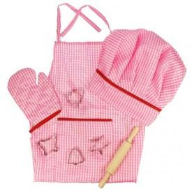 Bigjigs Toys Růžový set šéfkuchařky - poškozený obal
