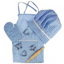Bigjigs Toys modrý set šéfkuchaře - Sleva
