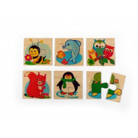 Hess Dřevěné puzzle 6 zvířátek