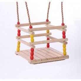 Dvěděti Dětská dřevěná houpačka