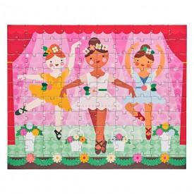 Petitcollage Oboustranné puzzle baletky 100 dílků
