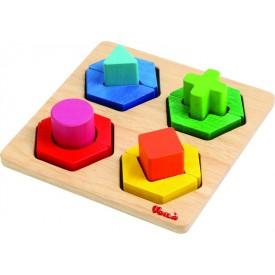 Dřevěné hračky - Geometrické tvary malé