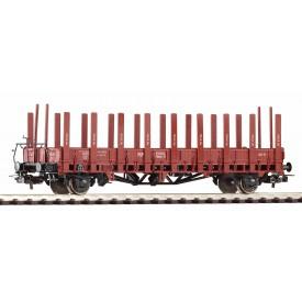 Piko Nízkostěnný vagon s klanicemi ex Ulm PKP III - 54458