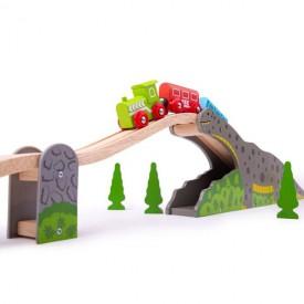 Bigjigs Rail Dinosauří most Poškozený obal