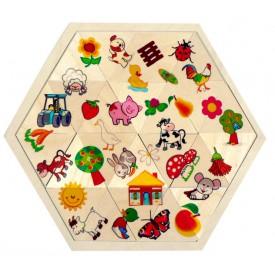 Hess Puzzle mozaika Farma 24 dílků