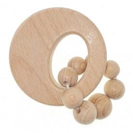 Hess Chrastítko kulaté přírodní s kuličkovým kroužkem