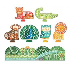Petitcollage Kreativní puzzle se samolepkami zvířátka - 1000 kusů poškozený obal
