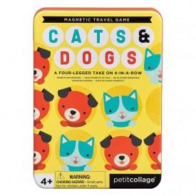 Petitcollage Magnetická hra Kočky a psi poškozená kovová krabička