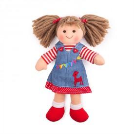 Bigjigs Toys Látková panenka Hattie 28 cm