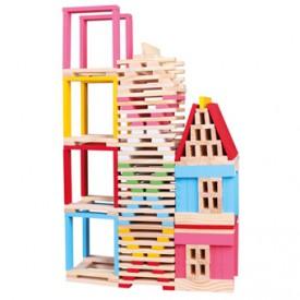 Bino Dřevěná stavebnice město