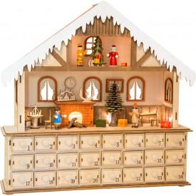 Small Foot Dřevěný adventní kalendář kouzelný vánoční dům - poškozený obal