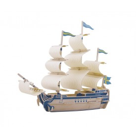Dřevěné skládačky 3D puzzle - Dřevěný koráb Gothenborg