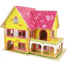 Dřevěné skládačky 3D puzzle - Daisy domeček pro panenky