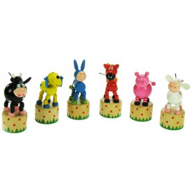 Bigjigs dřevěná mačkací zvířátka - 1ks