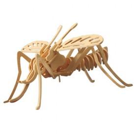 Dřevěné 3D puzzle dřevěná skládačka hmyz - Moskyt E020