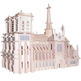 Dřevěné skládačky 3D puzzle Katedrála Notre dame GP151