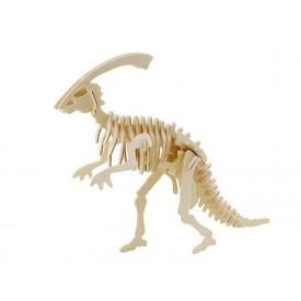 Dřevěné 3D puzzle dřevěná skládačka - Parasaurolophus