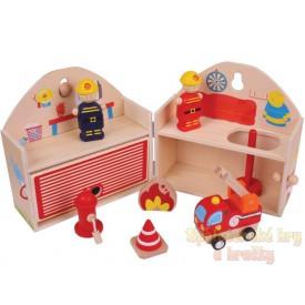 Dřevěná hračka - Hrací set Hasiči