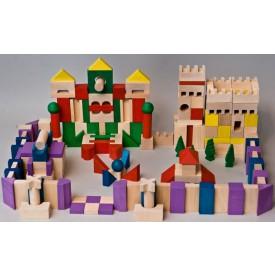 Dřevěné kostky v tubě - Velké dřevěné kostky 200 XL