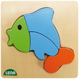 Dřevěné puzzle, ryba
