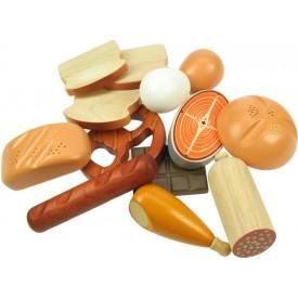 Dřevěné potraviny - Sada potravin 13 kusů