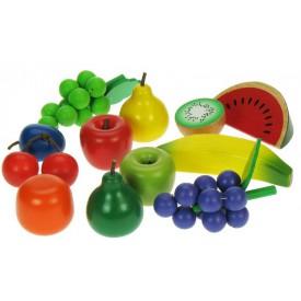 Dřevěné potraviny - Ovocná sada 13 kusů