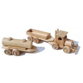 Ceeda Cavity - dřevěná stavebnice  - Tahač s 2 ks přívěsu I.