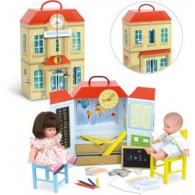 Dřevěné hračky Vilac - Školní set v kufříku