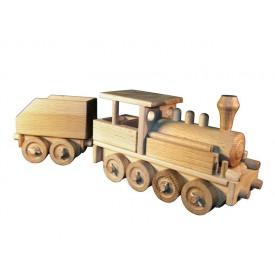 Ceeda Cavity - přírodní dřevěný vláček - Parní lokomotiva