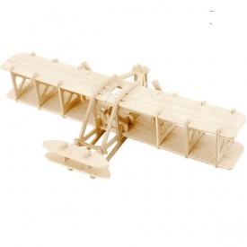 Dřevěné 3D puzzle dřevěná skládačka - Wright aircraft