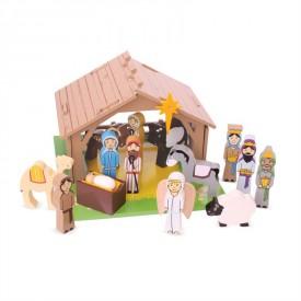 Dřevěné hračky Bigjigs - Betlém pro nejmenší