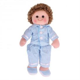 Látková panenka Arthur v modrém pyžamu - 35 cm