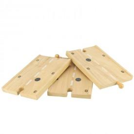 Dřevěné autodráhy Bigjigs - Dlouhá dřevěná cesta 3Ks