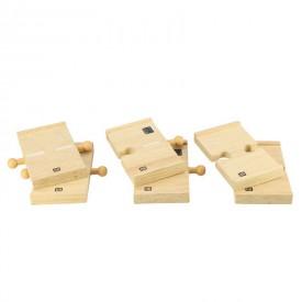Dřevěné autodráhy Bigjigs - Spojky dřevěné cesty 6ks