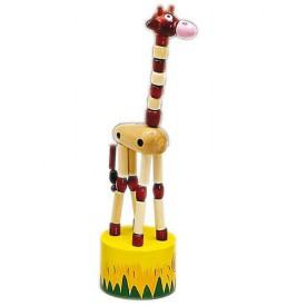 Dřevěné hračky - Dřevěné hry - Tancující žirafa hnědá