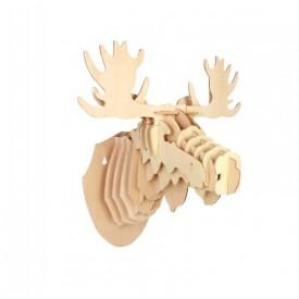 Dřevěné skládačky 3D puzzle - Hlava soba