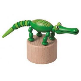 Dřevěné hračky -  dekorace - Krokodýl