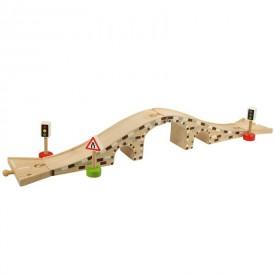 Dřevěné autodráhy Bigjigs - Dřevěný most pro auta