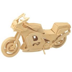 Dřevěné 3D puzzle skládačka - Motorka závodní P023