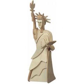 Dřevěné skládačky 3D puzzle - Socha svobody menší