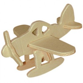 Dřevěná mini skládačka - Letadlo