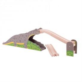 Bigjigs dřevěná vláčkodráha - Dinosauří most