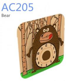 Robotime 3D puzzle hodiny se strojkem Medvěd