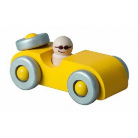 Detoa dřevěné autíčko žluté