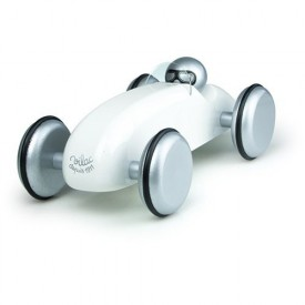 Vilac designové dřevěné závodní auto bílé